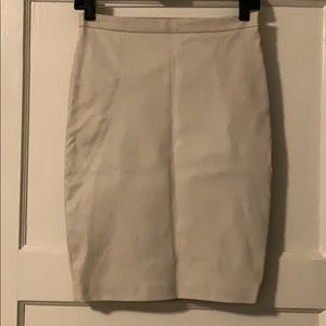 Lamb Skin Leather Skirt